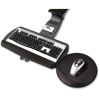 "Idea@Work 2KEY-3 Adjustable Mouse Over Keyboard Platform 21"" track"