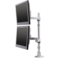 Innovative 9112-D Articulating Dual LCD 28 inch Pole Mount Arm - 14 inch Range