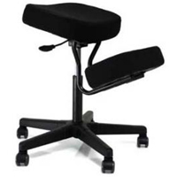 Jobri F1445 BetterPosture Solace Plus Ergonomic Height Adjustment Kneeling Chair Seating Black