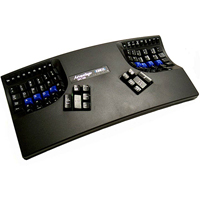 Kinesis KB500USBQD-blk Advantage Qwerty/Dvorak Switchable USB Contoured Ergonomic Keyboard for Mac and PC Black
