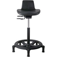 Office Master WS15 Ergonomic Low Maintenance Sit-Stand Workstool