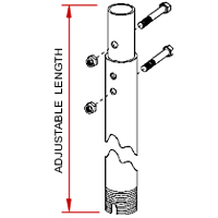 Peerless ADD101 Fixed and Adjustable Extension Columns