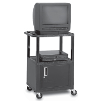 Peerless JCT-P2642CE Service Cart Height Adjustable Multipurpose Video Cart with Cabinet