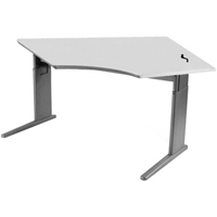 SIS Xtreme Crank Organic Corner Single Surface Height Adjustable Table / Desk
