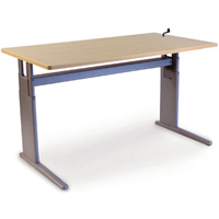 SIS Xtreme Crank Rectangle Single Surface Height Adjustable Table and Ergonomic Desk
