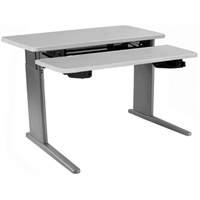 SIS Xtreme Electric Duplex Bilevel Surface Height Adjustable Table and Ergonomic Desk