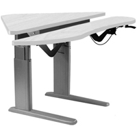 SIS Xtreme Electric Corner Duplex Bilevel Surface Height Adjustable Ergonomic Table