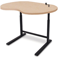 SIS Move 1610 or 1611 or 1616 Single Surface Crank Kidney Organic Adjustable Table and Ergonomic Desk