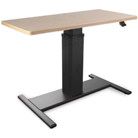 SIS Move Spring Single Surface Rectangle H-Base Height Adjustable Table / Desk