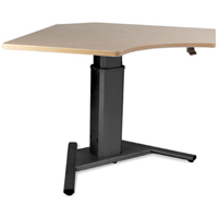 SIS Move Spring Single Surface 90 degree V-Base Height Adjustable Table / Desk