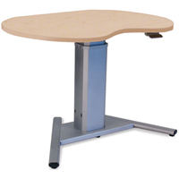 SIS Move Spring Single Surface Kidney Organic Adjustable Table and Ergonomic Desk
