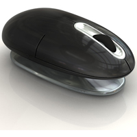 Smartfish ErgoMotion M2218B Wireless Ergonomic Laser Mouse