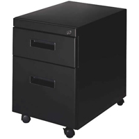 "WorkRite 800 Mobile Pedestal Box/File 22""D Black"