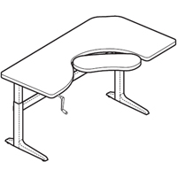 "Workrite Sierra Crank Offset Corner 2 Legs Keyboard Cutout (22-34"") Height Adjustable Tables"