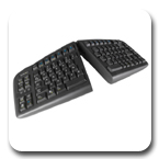 Goldtouch GTU-0088 PC and Mac Compatible V2 Adjustable Ergonomic Keyboard Black USB