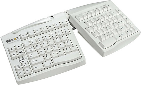 Goldtouch GTU-MACW Mac Adjustable USB Split Ergonomic Keyboard