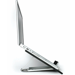 Side view of Goldtouch GTLS-0055 Go Travel Adjustable Ergonomic Notebook Stand