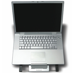 Goldtouch GTLS-0044 Go Travel Adjustable Portable Notebook Stand with Laptop