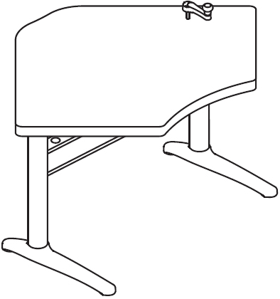 IdeaAtWork Proliftix Crank Equal Corner 2 Legs Height Adjustable Table