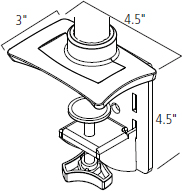 ISE MA4000 Clamp Mount