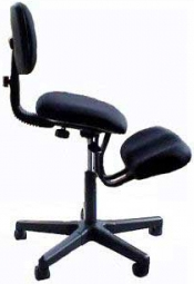 Jobri F1442 Solace Ergonomic Height Adjustment Kneeling Chair with Back Support