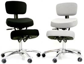 Superieur Jobri F1446 BetterPosture Visco Chrome Deluxe Kneeling Chair