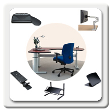 Workrite offers a full of adjustable work centers, desks, monitor arms, laptop stands, keyboards platforms, document and CPU holders and Footrests that satisfy virtually every application and user performance