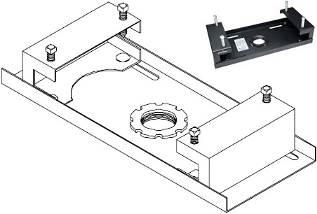 Peerless ACC558 or ACC559 I-Beam Clamps