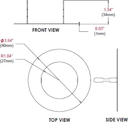 Peerless Mod Atd W Trim Disc For Modular Series Projector