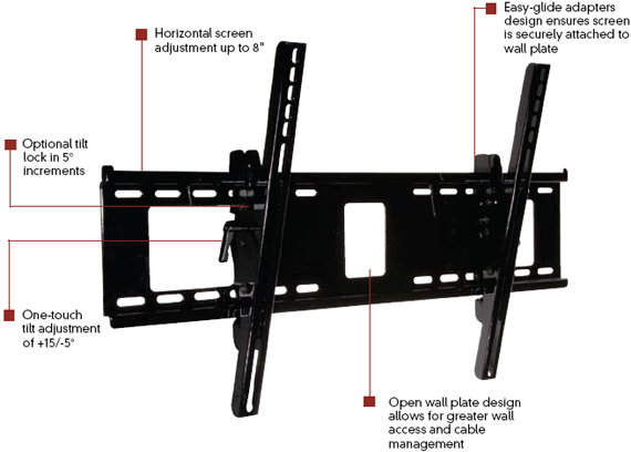 Peerless PT660 Paramount Tilt Wall Mount for 32 to 60 inch LCD Screen