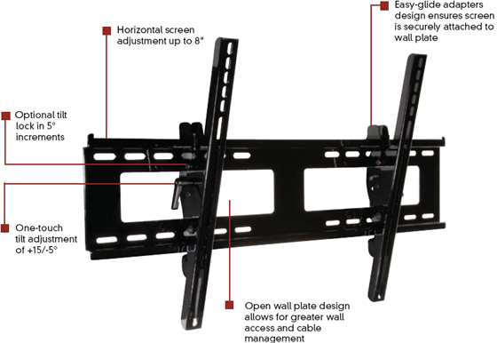 Peerless PT650 Paramount Tilt Wall Mount for 32 to 50 inch LCD Screen