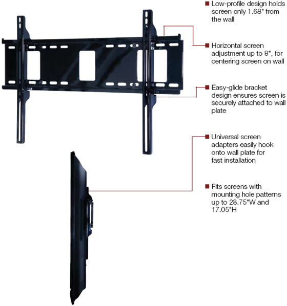 Peerless PF660 Paramount Flat Wall Mount for 32 to 60 inch LCD Screen
