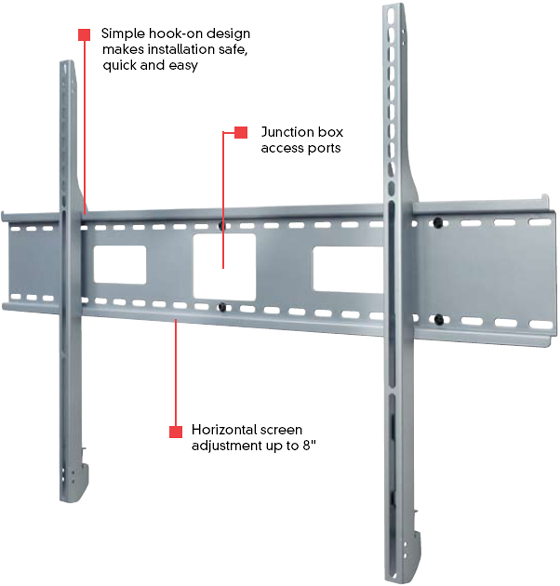 Peerless SF680 Smart Mount Flat Wall Mount SF 680 for 61 to 102 inch LCD Screens SF-680
