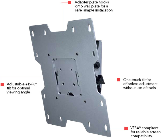 Peerless ST632 Smart Mount Universal Tilt Wall Mount for 10-37 inch LCD Screens ST-632