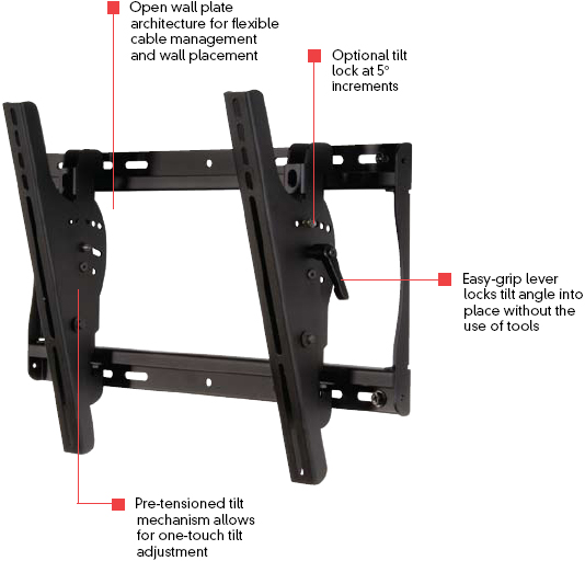 Peerless ST640 SmartMount Universal Tilting Wall Mount for 23 - 46 inch LCD Screens ST 640