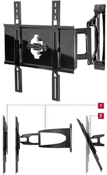 Peerless SUA645PU Slinline Articulating Wall Mount Arm