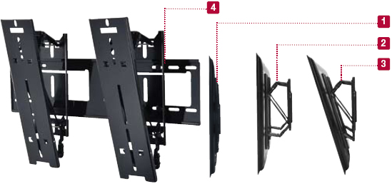 Peerless SUT645P Universal Ultra-thin Tilt Wall Mount