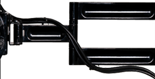 Peerless PA 760 Paramount Articulating Wall Mount Arm for LCD Plasma Screens with Integrated Cable Management
