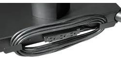 Peerless ACC320 Electrical Outlet Strip with Cord Wrap for Flat Panel Cart Series