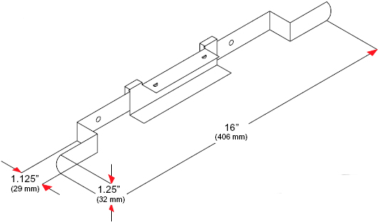 Technical Drawing for Peerless ACC 320 Electrical Outlet Strip with Cord Wrap