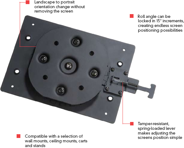 "Peerless RMI1 Rotational Mount Interface for Landscape to Portrait Adjustment up to 71"" Screens"