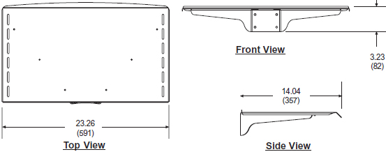 Technical Drawing for Peerless ACC313 Metal Shelf