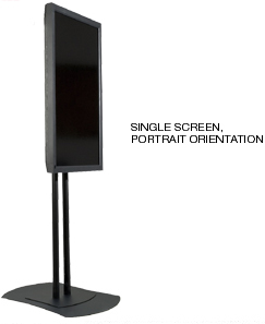 Peerless FPZ-600 Flat Panel Single Display Mount Stand for Portrait Orientation