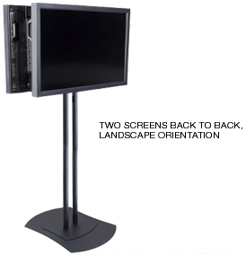 Peerless FPZ600 Flat Panel Two Screens Display Mount Stand for Landscape orientation