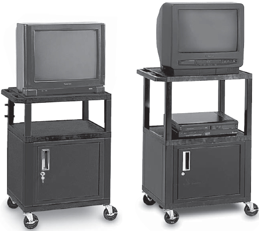 Peerless JCT-P2642CE Height Adjustable with locking Cabinet Cart