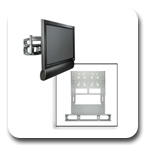 Peerless MSA-101 Multi-Channel Speaker Mount for Screens
