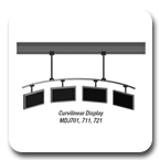 Peerless MDJ-701 Flat Panel Curvilinear 120 inch Ceiling Mount