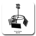Peerless MDJ760 Flat Panel Multi-display Circular Ceiling Mount MDJ-760