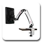 Peerless LCT-A1B1C or LCT-A1B1H Desktop Two Link Articulating Arm Mount