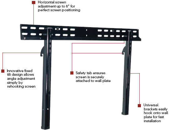 "Peerless PFT-660 Paramount Tilt Mount for 37""-60"" LCD Screen Black"